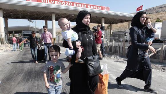 Cerca de un millón de sirios se han refugiado en Turquía
