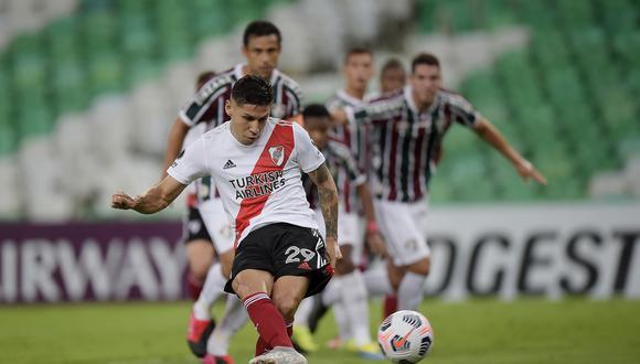 Gonzalo Montiel convirtió el 1-0 en el Maracaná. (Foto: Copa Libertadores).