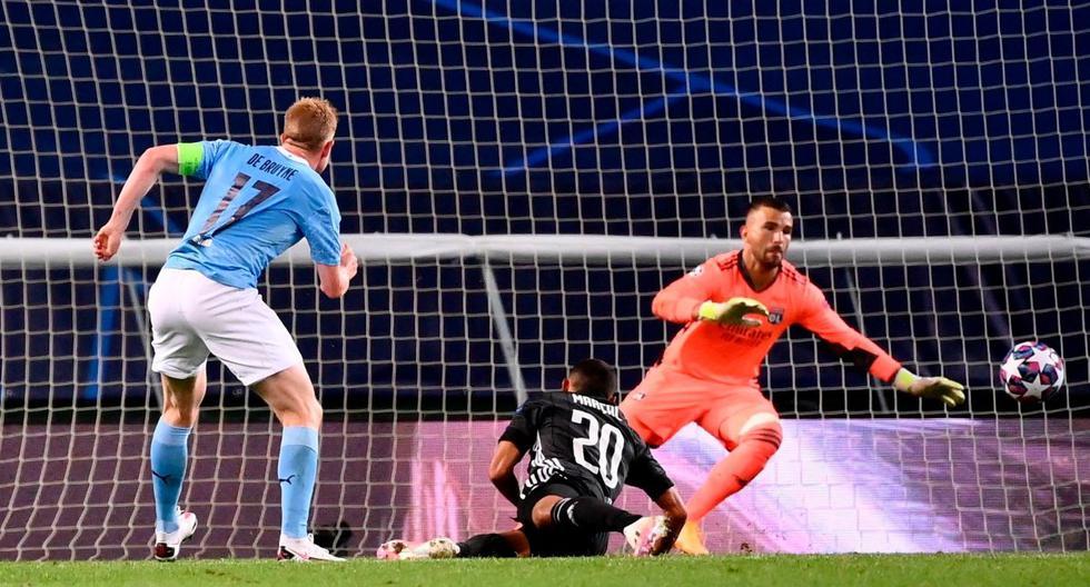 Gol de De Bruyne (EFE/AFP)