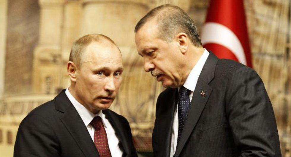 Erdogan se disculpa con Putin por derribar un caza ruso