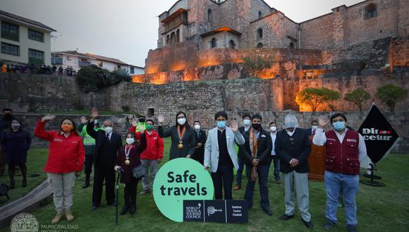 La ceremonia se llevó a cabo en la explanada del templo del Coricancha. (Foto: Municipalidad Cusco).