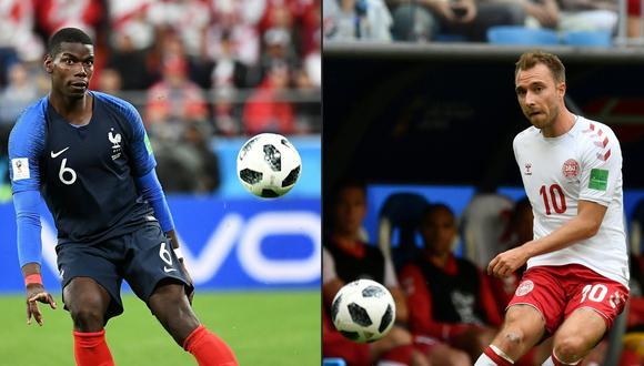 Francia y Dinamarca chocan en la última jornada del Grupo  C en el Mundial Rusia 2018. A los galos les bata un empate para asegurar el primer lugar de la serie. (Foto: AFP)