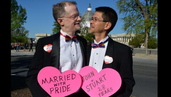 Apoyo al matrimonio homosexual en EE.UU. en su nivel más alto