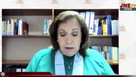 Lourdes Flores Nano consideró que se está violando el debido proceso. (Captura JNETV)