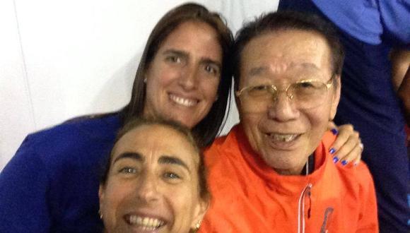 El selfie de Natalia con Man Bo Park y Gaby Pérez del Solar