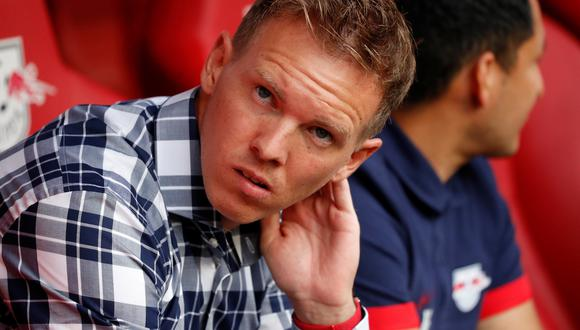 Soccer Football - Bundesliga - RB Leipzig v Bayern Munich - Red Bull Arena, Leipzig, Germany - September 14, 2019  RB Leipzig coach Julian Nagelsmann before the match    REUTERS/Fabrizio Bensch  DFL regulations prohibit any use of photographs as image sequences and/or quasi-video