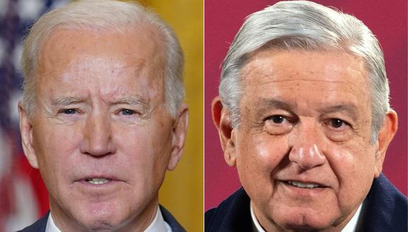 Joe Biden y AMLO sostendrán este lunes su primera reunión virtual. (AFP).