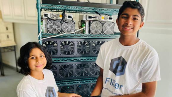 Tienen 9 y 14 años y ganan 30 mil dólares al mes minando criptomonedas. (Foto: CNBC)