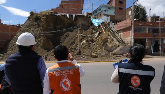 Cusco: construcción clandestina provocó deslizamiento e hizo colapsar escaleras (Foto: Municipalidad del Cusco)