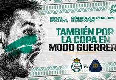 Santos vs. Pumas EN VIVO ONLINE TRANSMISIÓN vía TUDN: juegan por los octavos de final de la Copa MX desde Torreón