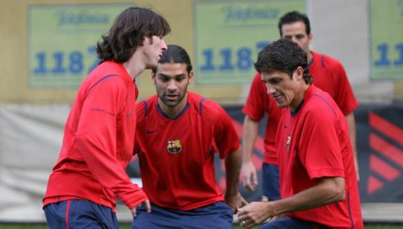 Lionel Messi y Edmilson fueron compañeros en Barcelona durante cuatro temporadas. (Foto: AFP)