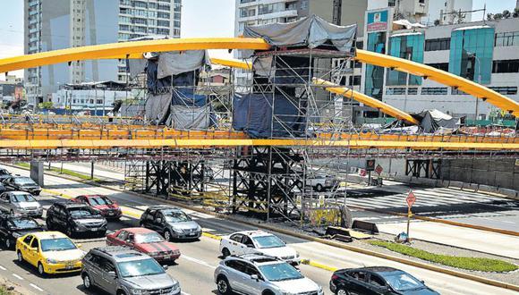 El nuevo puente Junín conectará a Miraflores y Surquillo. El proyecto de la MML, al igual que en el puente Leoncio Prado, incluye la construcción de arcos amarillos. (Diana Chávez)