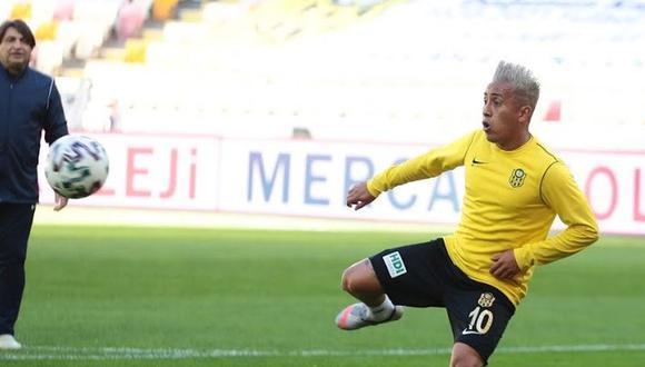 Christian Cueva fue separado del primer plantel de Yeni Malatyaspor. (Foto: Yeni Malatyaspor)