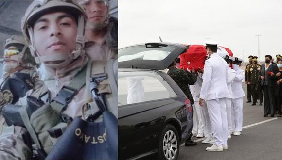 El cuerpo del oficial de mar caído en la emboscada fue recibido por autoridades del Ejecutivo y de la Marina. Sus restos fueron trasladados a la Fuerza de Aviación Naval, donde se le realizan los honores. (Fotos: cortesía / archivo EC)
