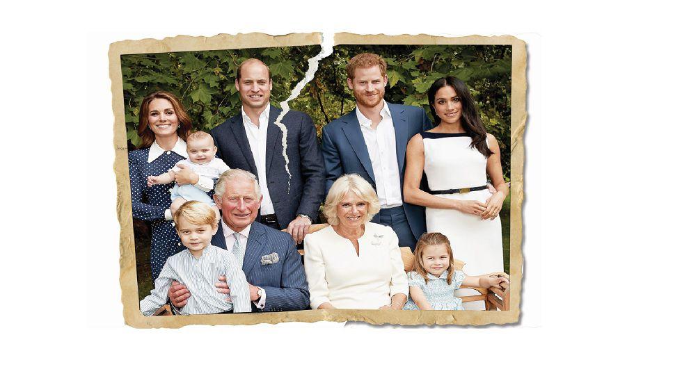 Harry y Meghan, los duques de Sussex (arriba, a la derecha), mantuvieron una relación conflictiva con la prensa, que en algunos casos fue abiertamente racista con ella.