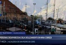 Huancavelica: reportan tres personas desaparecidas tras deslizamiento en Unidad Minera Cobriza