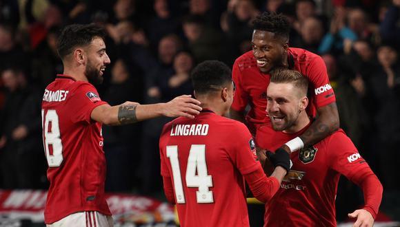 Manchester United enfrentará al Manchester City por la Premier League. Conoce los horarios y canales de todos los partidos de hoy, domingo 8 de marzo. (AFP)