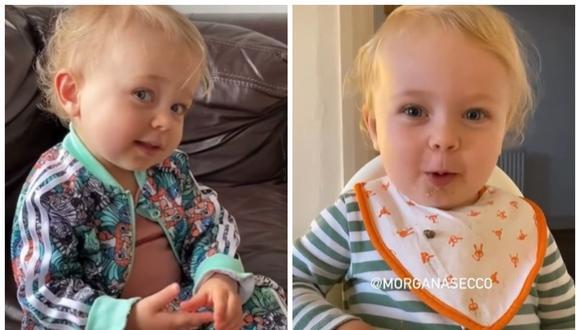 Alice tiene dos años y se ha vuelto viral en las redes sociales por pronunciar palabras difíciles. (Foto: TikTok)