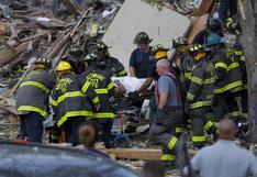Un muerto, 5 heridos y 3 casas destruidas por enorme explosión de gas en Baltimore  | FOTOS