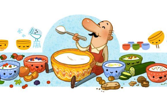 Google decidió conmemorar con un doodle el 142º cumpleaños del médico y microbiólogo búlgaro Dr. Stamen Grigorov. (Imagen: Google).