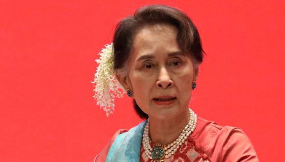 La exdirigente de Myanmar, Aung San Suu Kyi, asiste a Invest Myanmar en Naypyitaw, Myanmar, el 28 de enero de 2019. (Foto: REUTERS / Ann Wang / archivo).