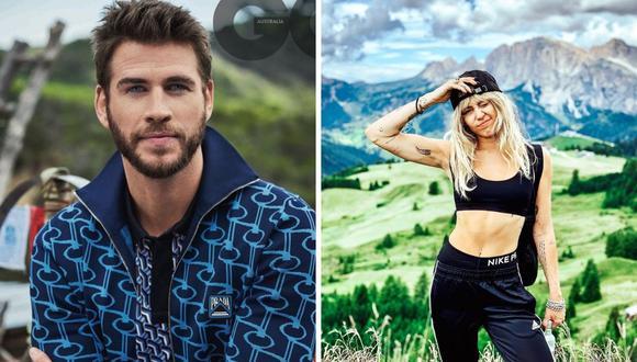 """Liam Hemsworth no tiene una buena opinión de Miley Cyrus y considera que """"habla mucho del pasado"""". (Foto: @mileycyrus/@liamhemsworth)"""