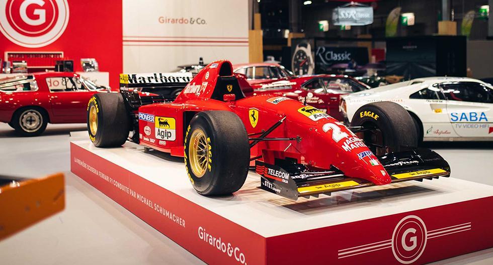 El Ferrari 412 T2 fue conducido por Michael Schumacher en su llegada a la escudería Ferrari. (Fotos: Girardo & Co.).