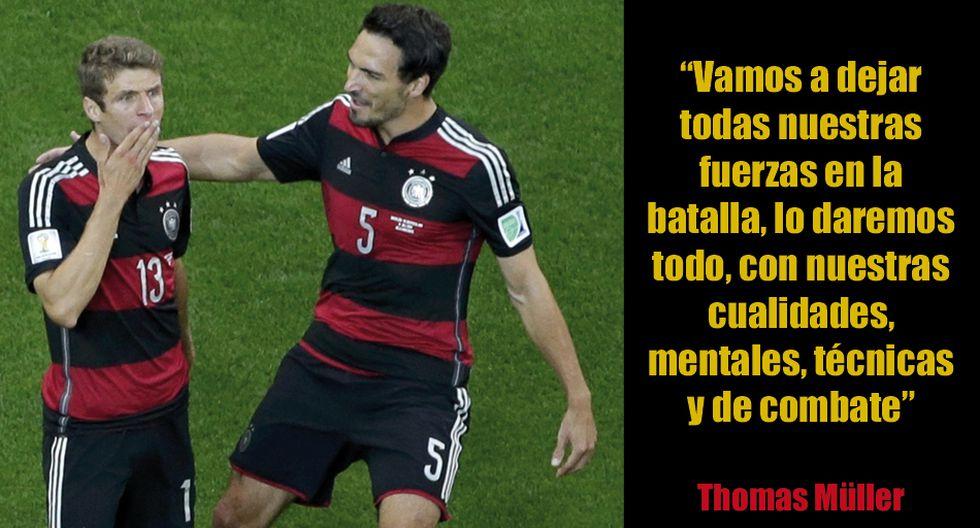 Alemania vs. Argentina en frases de los protagonistas - 2