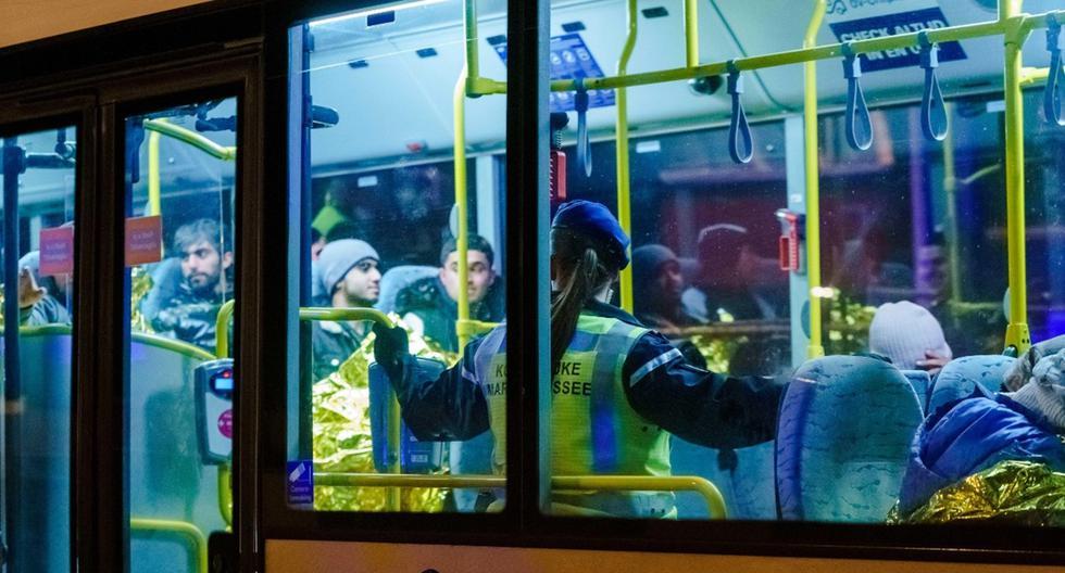 Una fotografía tomada el 19 de noviembre muestra dónde se encontraron 25 migrantes en el puerto de Vlaardingen, en Holanda. (AFP)