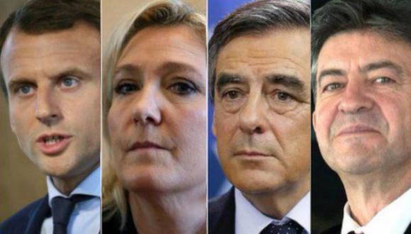 Elecciones en Francia: Los 4 candidatos que lideran encuestas