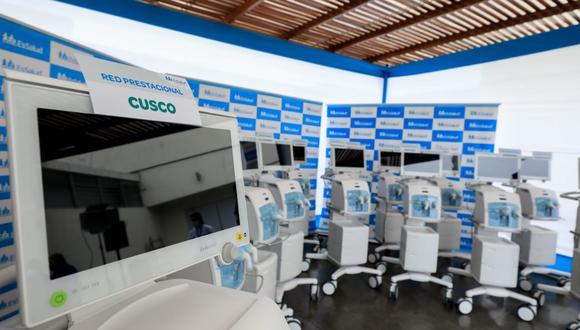 Con esta nueva adquisición se completa el lote de 400 ventiladores de última generación comprados por Essalud para enfrentar la segunda ola por COVID-19 en el país. (Foto: Essalud)