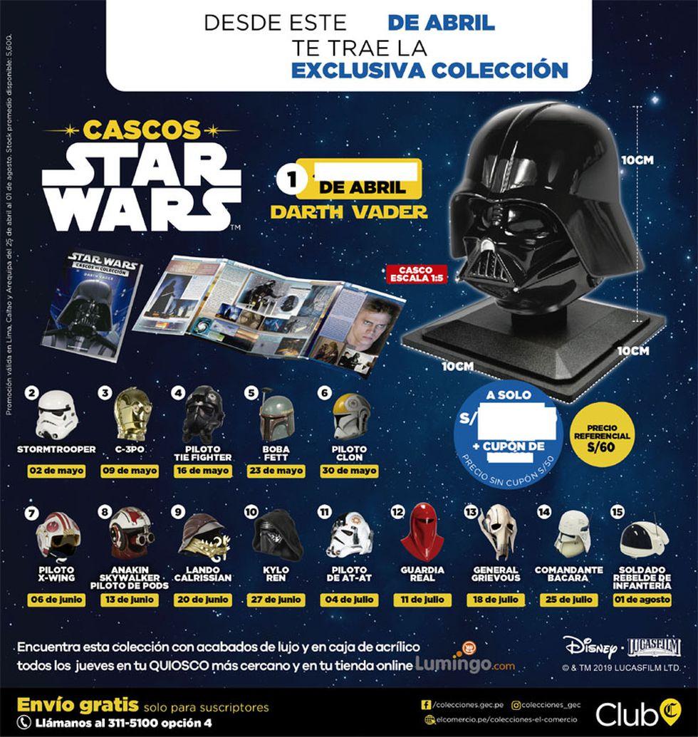 Colección de cascos de El Comercio.