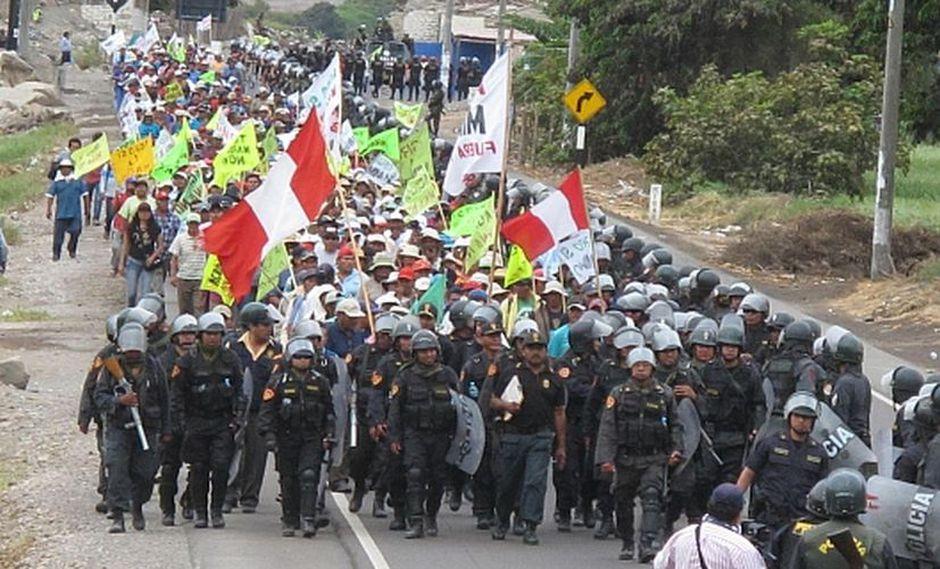 El proyecto Tía María ha desencadenado numerosas protestas. (Foto: GEC)