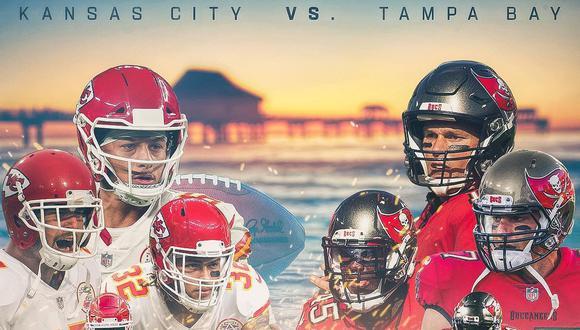 Chiefs vs. Bucanneers, el partido que enfrentará a Tom Brady y Patrick Mahomes en el Super Bowl.