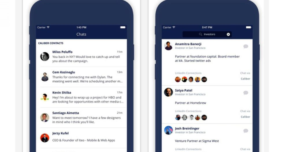 LinkedIn: Caliber, la nueva App para chatear en la red social