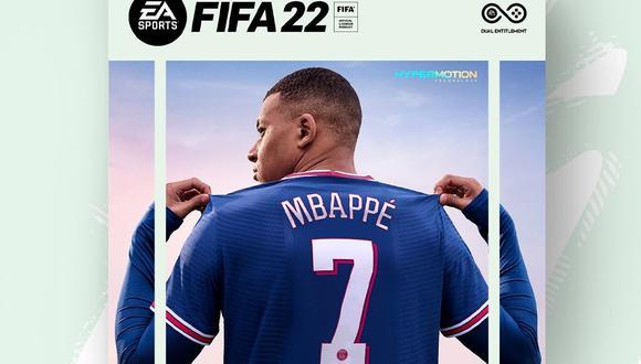 Kylian Mbappé aparecerá en la portada de FIFA 22. (Imagen: EA)