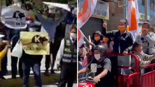 Caravana de Fuerza Popular se encuentra con simpatizantes de Perú Libre en Huaraz