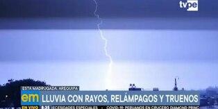 Arequipa: Preocupación por intensas lluvias, rayos y truenos