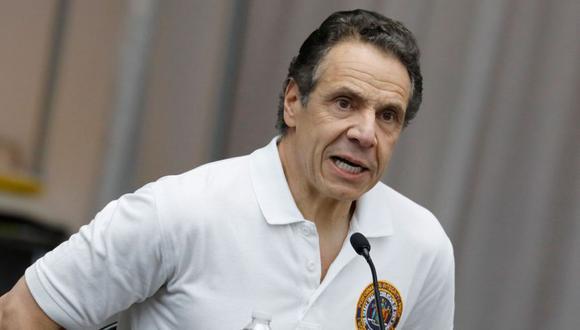 El gobernador del estado de Nueva York, Andrew Cuomo, habla en una conferencia de prensa en el Centro de Convenciones Jacob Javits en Nueva York, Nueva York, Estados Unidos. (Foto: EFE / EPA / PETER FOLEY).