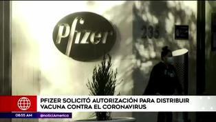 Pfizer pide autorización de emergencia para su vacuna contra el COVID-19