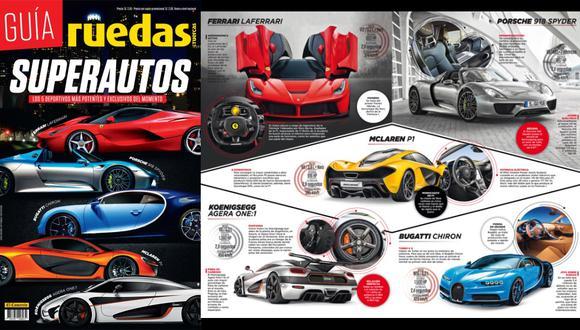 La Guía de Superautos la podrás adquirir desde hoy a solo 2 soles con cupón de Perú21 y a S/. 2.50 sin cupón. (Fotos: Difusión)