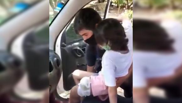 Abigail y su familia fueron impedidos de ingresar a Santiago del Estero, pues según las autoridades no contaban con un permiso para que el vehículo pueda continuar su trayecto. (Foto: @SalernoCarlos/Twitter).