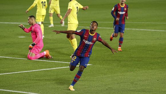 Ansu Fati marca doblete en el Barcelona vs. Villarreal   Foto: REUTERS
