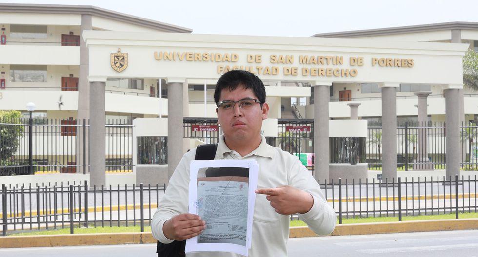 """George Rafael dice que las autoridades universitarias lo castigan por ser dirigente estudiantil. """"Mi familia en Ayacucho se privó de mucho para darme educación. No es justo"""", agrega. (Foto: Juan Ponce)"""