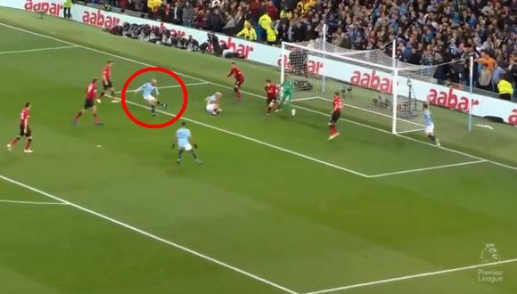Manchester City vs. Manchester United: Silva marcó golazo para el 1-0 en el Etihad | VIDEO. (Video: Captura de pantalla)
