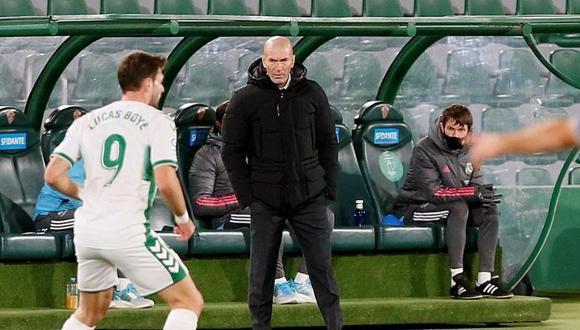 Zinedine Zidane no se alarma por empate de Real Madrid (Foto: EFE)