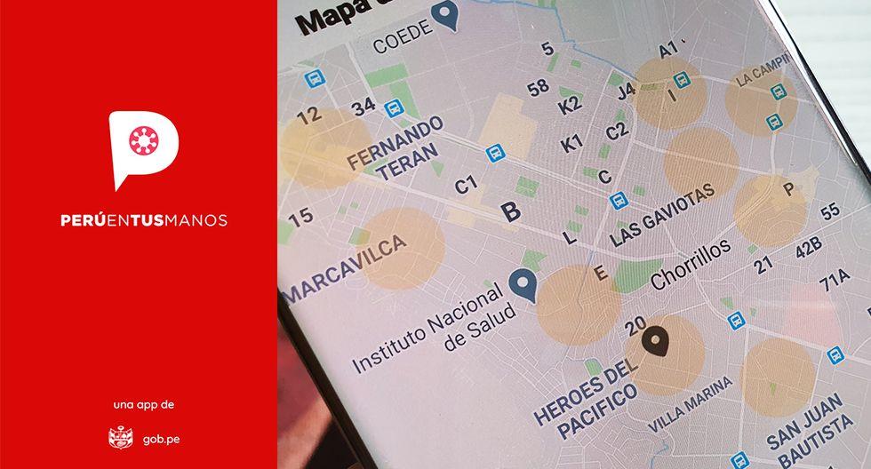 """¿Son casos contagiados los círculos naranjas que se ven en la app """"Perú en tus manos""""? Aquí te lo explicamos. (Foto: MAG)"""