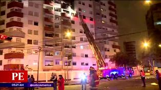 Incendio en departamento de Miraflores alertó a vecinos
