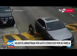 Surco: mujer fue arrastrada por vehículo conducido por su pareja