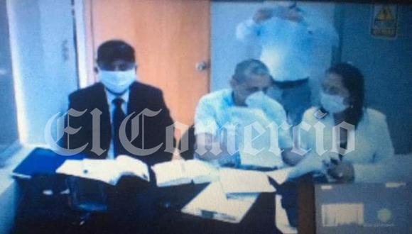 El etnocacerista, Antauro Humala, sustentó ante el Poder Judicial, su recurso de habeas corpus para ser trasladado a un hospital ante el riesgo de contraer coronavirus (Foto: Poder Judicial)